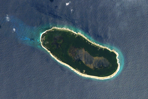 Space photograph of Teraina, Kiribati from Nasa.